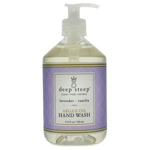 Argan Oil Liquid Hand Wash Lavender Vanilla 17 Oz by Deep Steep (2588257386581)