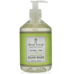 Argan Oil Liquid Hand Wash Coconut Lime 17 Oz by Deep Steep (2588257321045)