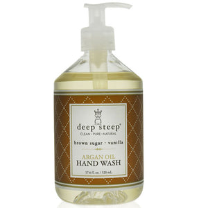 Argan Oil Liquid Hand Wash Brown Sugar Vanilla 17 Oz by Deep Steep (2588257222741)