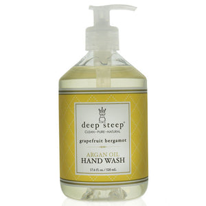 Argan Oil Liquid Hand Wash Grapefruit Bergamot 17.6 Oz by Deep Steep (2588257026133)