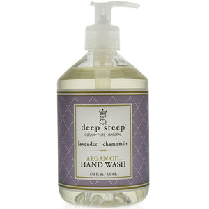 Argan Oil Liquid Hand Wash Lavender Chamomile 17 Oz by Deep Steep (2588256993365)