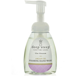 Argan Oil Foaming Hand Wash Lilac Blossom 8 Oz by Deep Steep (2588256927829)