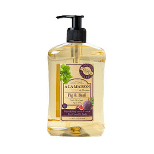 Liquid Soap Fig & Basil 16.9 Oz by A La Maison