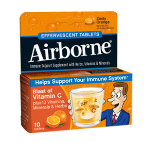 Airborne Effervescent Tablets With Vitamin C Triple Pack 3/10 Tabs by Airborne