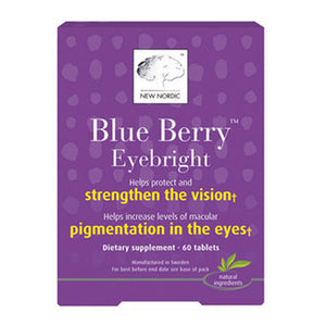 Blue Berry Eyebright 60 Tablets by New Nordic US Inc