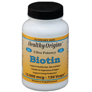 Biotin 150 Veg Caps by Healthy Origins (2590152654933)