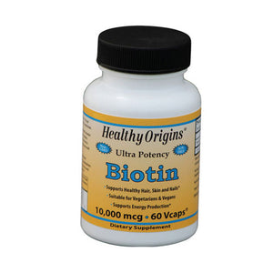 Biotin 60 Veg Caps by Healthy Origins (2590152622165)