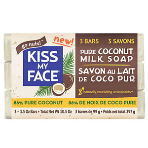 Bar Soap Pure Coconut Milk 3 Count by Kiss My Face (2588245721173)