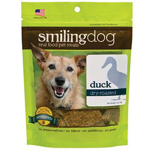 Smiling Dog Treats Dry Roasted Duck 3 Oz by Herbsmith (2588244705365)