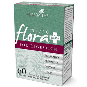 Microflora Plus Digestion For Dogs & Cats 60 Caps by Herbsmith (2588244213845)