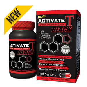 Activate T Black Hardcore Testosterone Booster 90 Caps by Fusion Diet Systems (2588243427413)