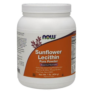 Sunflower Lecithin Pure Powder 1 lb by Now Foods (2590149115989)