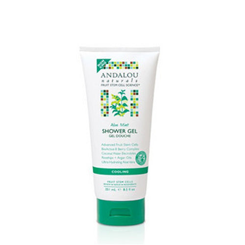 Shower Gel Cooling Aloe Mint 8.5 Oz by Andalou Naturals