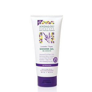 Shower Gel Refreshing Lavender Thyme 8.5 Oz by Andalou Naturals (2590147936341)