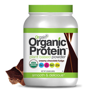 Organic Protein Plant Based Powder Creamy Chocolate Fudge 2.05 lb by Orgain