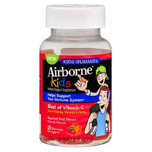 Airborne Gummies Kids Assorted Fruit, 21 Gummies by Airborne
