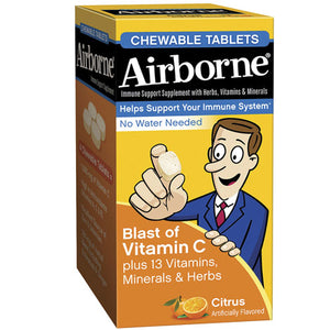 Airbone Chewable Citrus 64 Tabs by Airborne