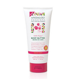 1000 Roses Velvet Soft Body Butter 8 Oz by Andalou Naturals (2590146920533)