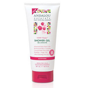 1000 Roses Soothing Shower Gel 8.5 Oz by Andalou Naturals (2590146887765)