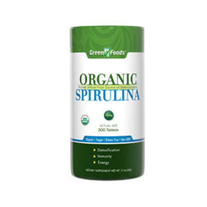 Organic Spirulina 300 Tabs by Green Foods Corporation (2588239200341)