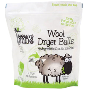 Wool Dryer Balls 0.77 lb (3 Count) by Molly's Suds (2588233891925)