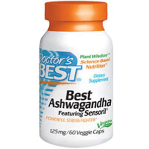 Ashwagandha with Sensoril 60 Veggie Caps by Doctors Best