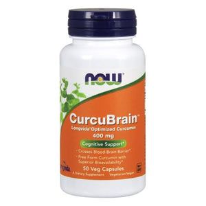 CurcuBrain 50 Vcaps by Now Foods (2590143447125)