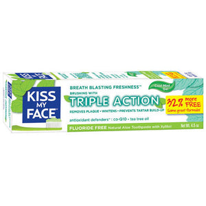 Fluoride Free Triple Action Gel Toothpaste 4.5 oz by Kiss My Face (2588221734997)