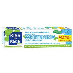Fluoride Free Whitening Gel Toothpaste 4.5 oz by Kiss My Face (2588221603925)