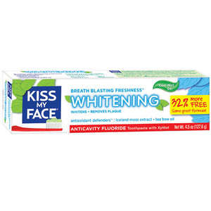 Anticavity Fluoride Whitening Gel Toothpaste 4.5 oz by Kiss My Face (2588221472853)
