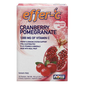 Effer-C Cranberry Pomegranate Packets 30 ct by Now Foods (2590141710421)