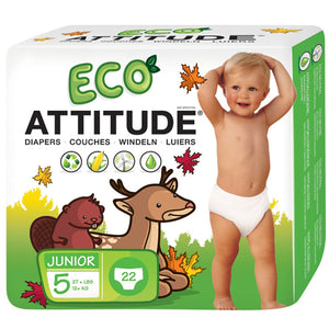 Diapers Size 5 (27 Lbs +) 22 CT by Attitude