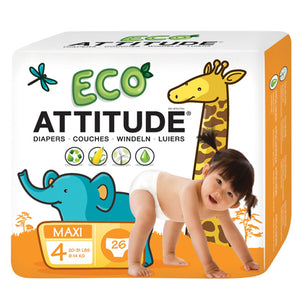 Diapers Size 4 (22-37 Lbs) 26 CT by Attitude