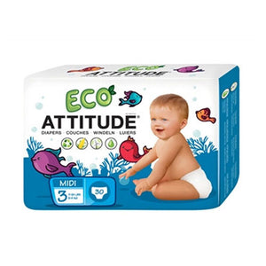 Diapers Size 3 (13-28 Lbs) 30 CT by Attitude