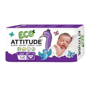 Diapers Size 1-2 (6-15 Lbs) 36 CT by Attitude