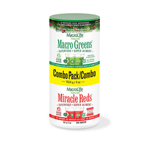 Greens Reds Combo Pack 4 oz by Macrolife Naturals (2590141251669)