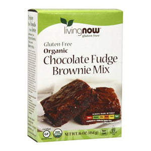 Organic Gluten Free Chocolate Fudge Brownie Mix 16 Oz by Now Foods