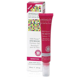 1000 Roses Eye Revive Contour Gel 0.6 Oz by Andalou Naturals