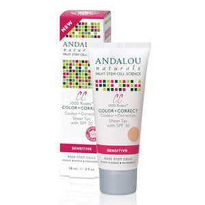 1000 Roses Cc Color + Correct Sheer Tan Spf 30 2 Oz by Andalou Naturals (2590138597461)