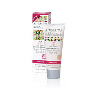 1000 Roses Cc Color + Correct Sheer Nude Spf 30 2 Oz by Andalou Naturals