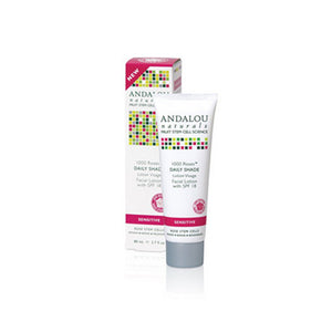1000 Roses Daily Shade Facial Lotion With SPF 18 , 2.7 Oz by Andalou Naturals (2590138204245)