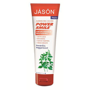 Powersmile Toothpaste Antiplaque & Whitening Peppermint 3 Oz by Jason Natural Products (2588211150933)