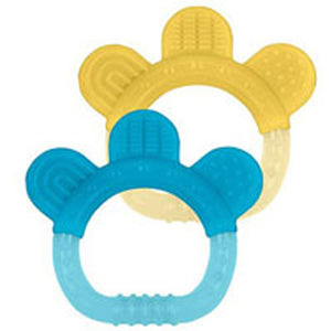 Sili Paw Teether Aqua/Yellow 1 Set by Green Sprouts