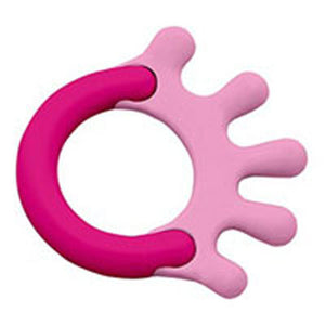 Cornstarch Hand Teether Hot Pink 1 Ct by Green Sprouts