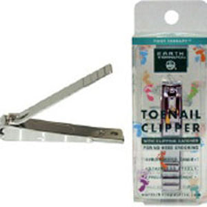 Toenail Clippers With Catcher 1 Pc by Earth Therapeutics (2588939124821)