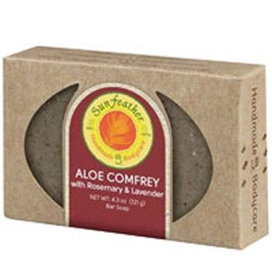Aloe & Comfrey Soap 4.3 oz by Sunfeather (2590135550037)