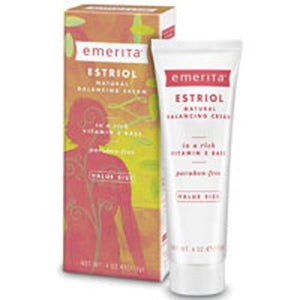 Estriol Natural Balancing Cream Fragrance Free 4 oz by Emerita