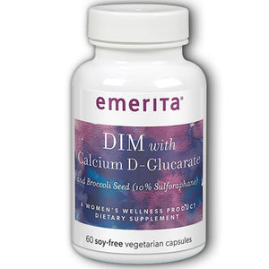 DIM Formula with Calcium D-Glucarate 60 ct by Emerita