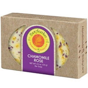 Chamomile Rose Soap 4.3 oz by Sunfeather (2590131224661)