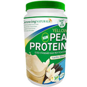 Yellow Raw Pea Protein 2.09 Lb, Vanilla Blast by Growing Naturals (2590125817941)